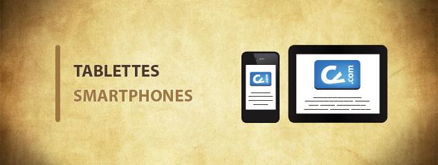 Version mobile du site